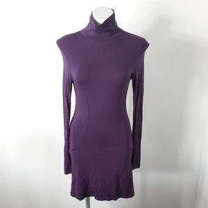 H&M Purple Turtleneck Dress